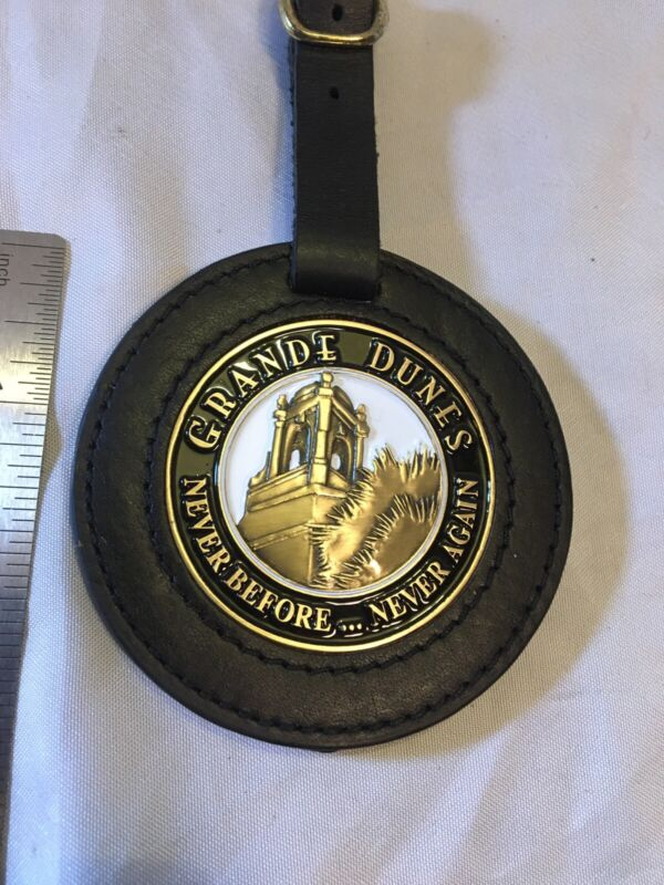 Golf Bag Tag Grande Dunes Never Before Never Again Leather Case