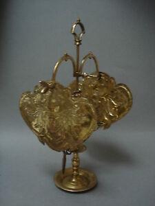 Superbe ancienne lampe a huile 3 becs en laiton avec reflecteurs a voir ebay - Lampe de bureau ancienne en laiton ...
