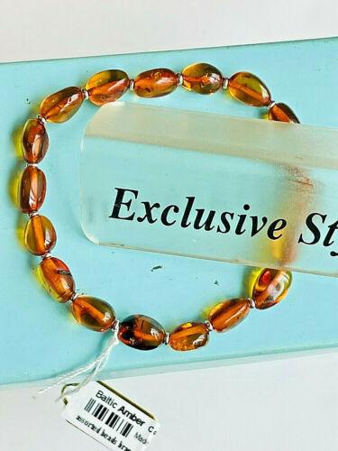 100% Genuine Russian Baltic Amber Bracelet Vintage Butterscotch Egg Yolk 老琥珀