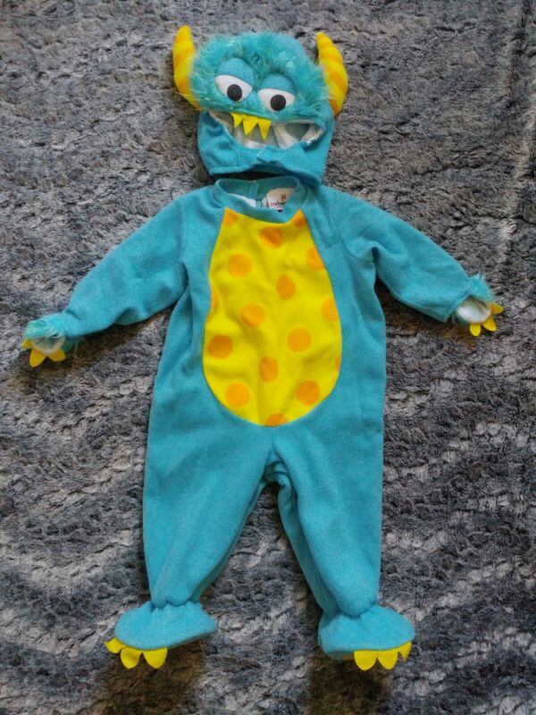 """InCharacter Blue """"Lil Monster"""" Kids Halloween Costume Size Small"""