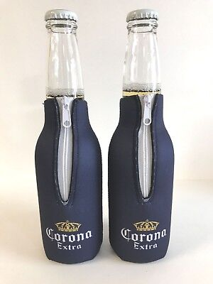 Corona Extra Crown 12 oz Bottle Koozie Cooler Coozie ~ Set of Two (2) New & F/S