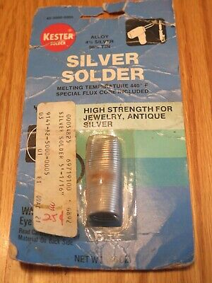 Kester Silver Solder 4 Silver 96 Tin High Strength Jewelry .46 Oz. .0625 5 Ft.