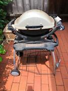 Weber Baby Q  BBQ with portable stand and gas bottle Blacktown Blacktown Area Preview