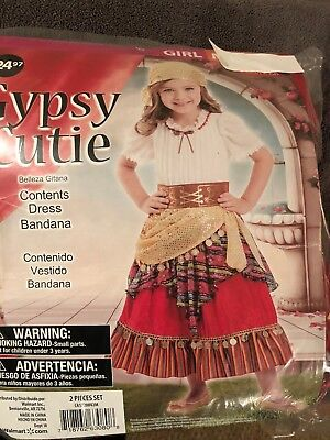 Boy Gypsy Costume (Halloween Costume Girl's Gypsy Cutie Medium or)