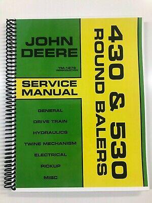 Service Manual For John Deere 430 530 Round Baler Tm-1276 Repair Manual