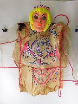 Vintage Halo Blue Fairy Costume and Mask