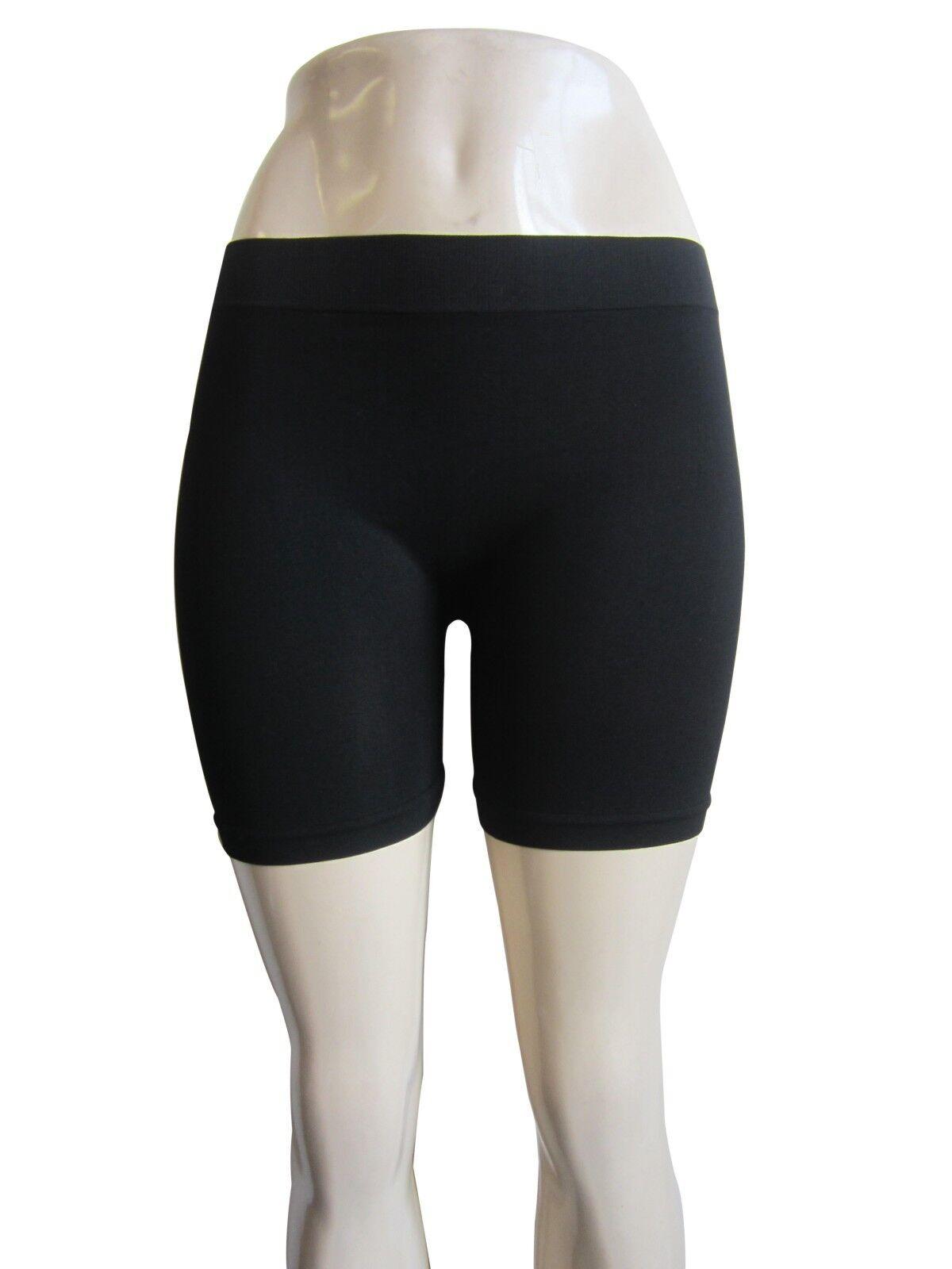 Women Plus Size Biker Cycling Yoga Stretch Workout Shorts