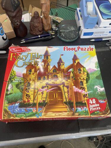 Melissa And Doug Fairy Tale Castle Large Floor Puzzle 48 Jumbo Pieces 2 X 3 Feet - $14.97