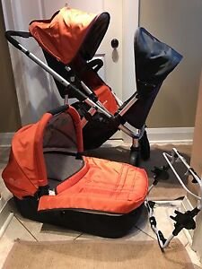 2010 Uppababy Vista + bassinet + graco adaptor-$425