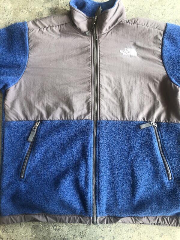The North Face Polartec Denali Blue Gray Fleece Jacket Youth XL