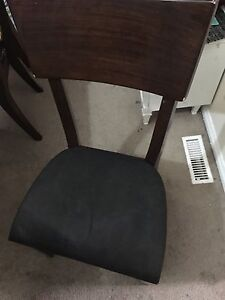 Wooden dining table with 4 chairs Edmonton Edmonton Area image 2