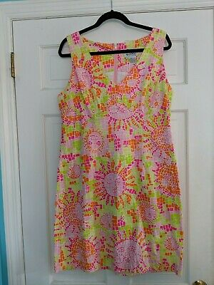 Lilly Pulitzer Mosaic Sun Print Shift Dress Size 14 - Sun Mosaic