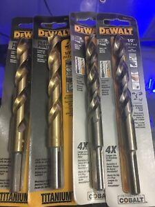 Dewalt 1/2 Drill Bit 4 pcs