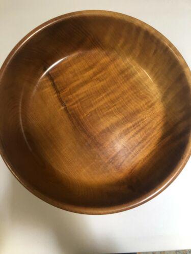 "Vintage Mid Century Modern RARE Myrtle wood Fruit Bowl Depoe Bay Oregon 10"". EUC"