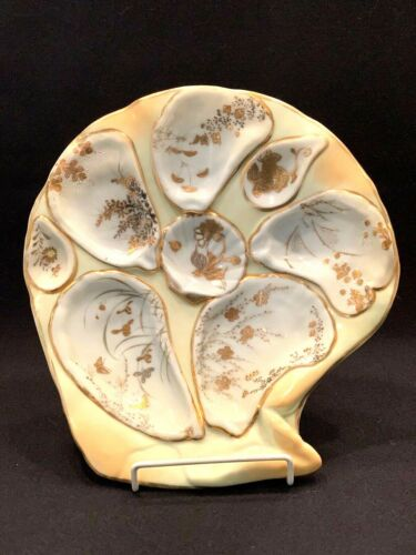 EXQUISITE ANTIQUE SATSUMA OYSTER PLATE