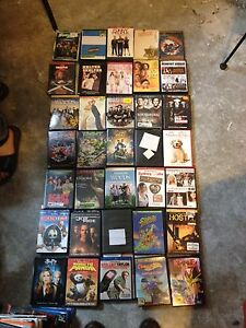 Assorted DVD and blu ray