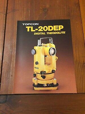 Topcon Tl-20dep Digital Theodolite Brochure Surveyor