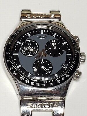 Vintage 1999 Swatch Irony Watch Windfall YCS410GX Swiss Chronograph New Battery!