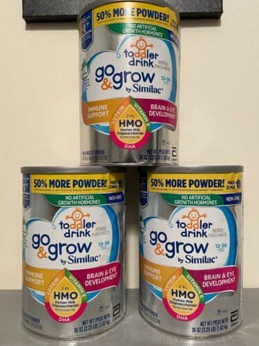 3 Cans - 36oz Similac Go & Grow by Similac Toddler Drink Formula, 36oz - 3 Cans