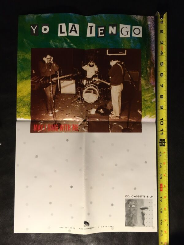 Yo La Tengo PROMO Poster May I Sing With Me 1992 Alias Records