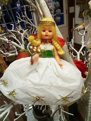 Vintage Christmas Tree Fairy Angel Doll Topper
