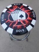 Poker chip bar stool Kambah Tuggeranong Preview