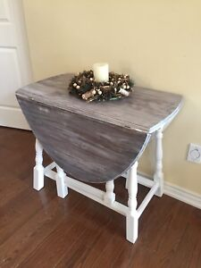 Beautiful Rustic Drop Leaf Table