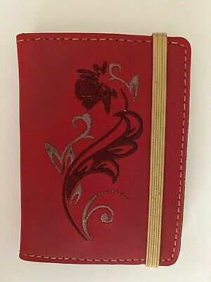 Wellspring Note Pad Wpen-red Tuscany Flower Note Folio Card Holder