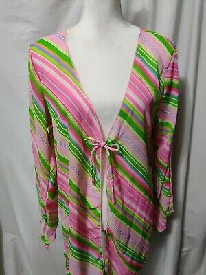 Your Best Look Beach Swimsuit Cover-up Woman's Size 12 Stripes Cold