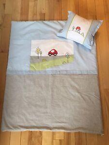 Literie bassinette pour bébé garçon et accessoires décoratifs