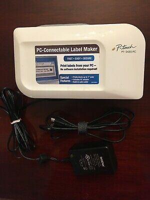 Pc Connectable Label Printer Brother P-touch 2430 Used