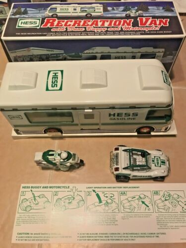 NEW HESS Truck 1998 Recreation Van with Dune Buggy and Motorcycle with Lights
