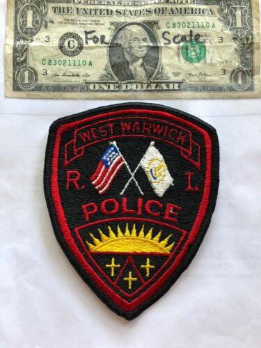 West Warwick Rhode Island Police Patch Un-sewn great shape