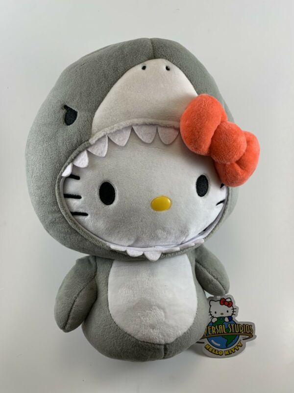 Hello Kitty x Jaws Shark Plush Doll Universal Studios Exclusive New 10""