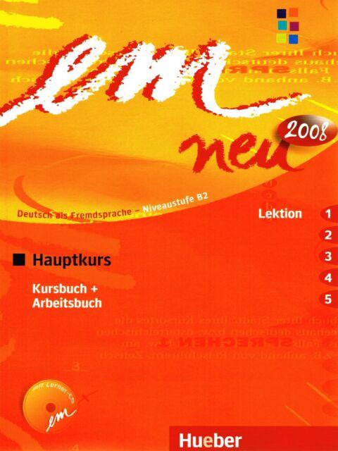 Hueber EM NEU 2008 Hauptkurs KURSBUCH+ARBEITSBUCH Lektion 1-5 mit Lerner-CD @New