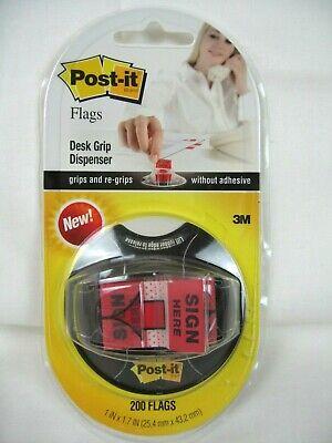 3M Post-it Index Sign Here Desk Grip Dispenser 680-SHVR200 - FREE -