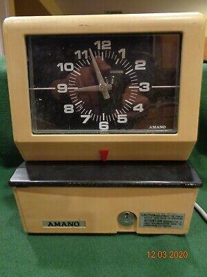 Vintage Atomic Amano Timeclock No Key Model 3636