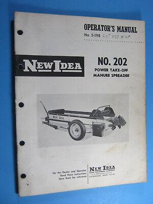 New Idea 202 Pto Manure Spreader Operators Manual
