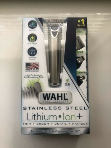 Wahl Stainless Steel Lithium Ion 18 piece Groomer Kit