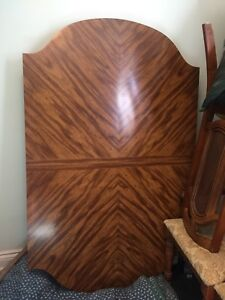 Table and leaf, 6 padded chairs, hutch