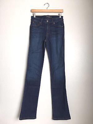 Dark Denim Flare Jeans (LEVEL 99 Sasha Mid Rise Bootcut Flare Denim Jeans Pants Dark Blue $135 #210)