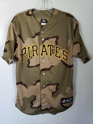 Majestic Pittsburgh Pirates Military Army Camo Baseball Jersey Mens M -