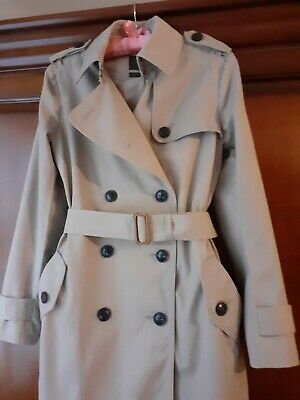 GAP Womens Trench Coat Ladies Size on Tag: Size 8UK Colour: Beige