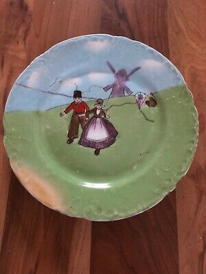 Lovely Antique A Murphy Handpainted Dutch Children Plate