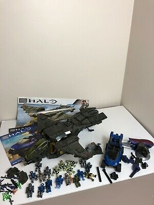 Mega Bloks Halo Unsc Pelican Gunship 97129 Not Complete And