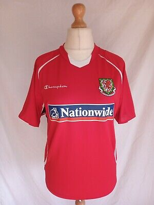 WALES NATIONAL FOOTBALL SHIRT 2008 MEDIUM GENUINE CHAMPION EXCELLENT CONDITION image