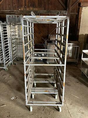 Aluminum B Lift 10 Slide Side Load Sheet Pan Bakery Rack Oven Cart
