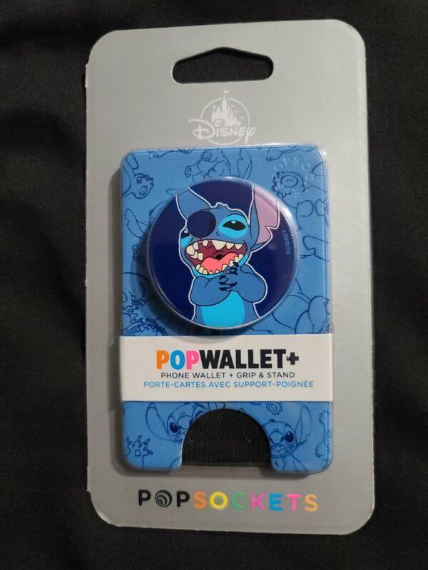 Disney Parks Pop Wallet Stitch Phone Wallet + Grip & Stand Pop Socket