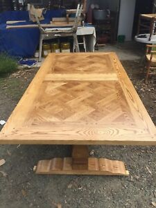 Tables French Oak Parquetry Top Tables Price Range $1000-$9500 Yarraville Maribyrnong Area Preview