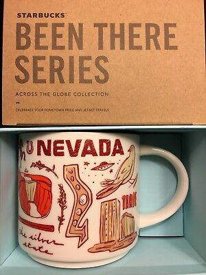 Starbucks Coffee Been There Series Mug NEVADA Cup 14 oz New in box & with SKU